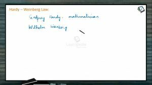 Origin And Evolution Of Life - Hardy-Weinberg Law (Session 12)