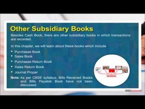 Class 11 Accounts - Other Subsidiary Books Video by MBD Publishers