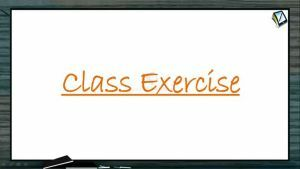 P Block Elements - Class Exercise (Session 2)