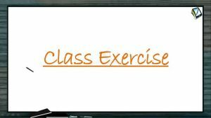 P Block Elements - Class Exercise (Session 8)