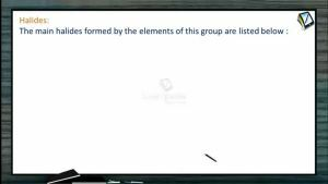 P Block Elements - Halides Of 15Th Group Elements (Session 8)