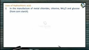 P Block Elements - Uses Of Hydrochloric Acid (Session 19)