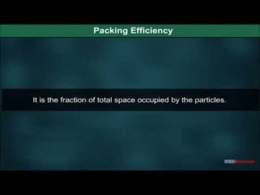Class 12 Chemistry - Packing Efficiency Video by MBD Publishers