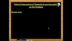 Parabola - Director Circle And Equation Of Pair Of Tangents (Session 4 & 5)