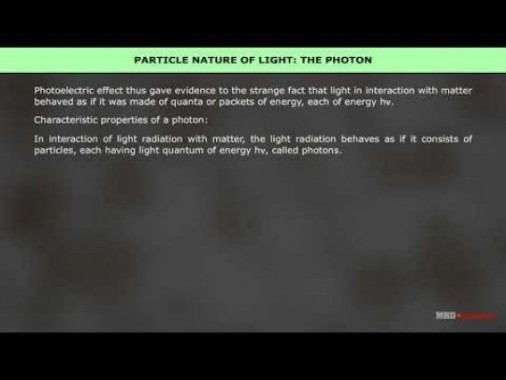 Class 12 Physics - Particle Nature Of Light The Photon Video by MBD Publishers