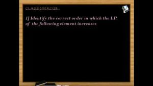 Periodic Properties - Class Exercise (Session 6)