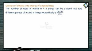Permutation And Combination - Distribution  Of Things Into Groups 1 (Session 9 & 10)