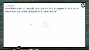 Permutation And Combination - Problems 1 (Session 12)