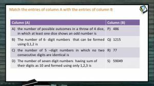 Permutation And Combination - Problems 3 (Session 7)