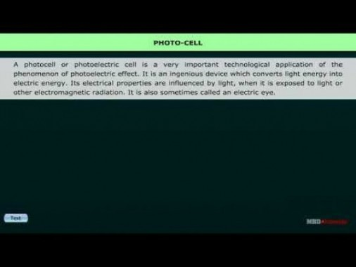 Class 12 Physics - Photo Cell Video by MBD Publishers