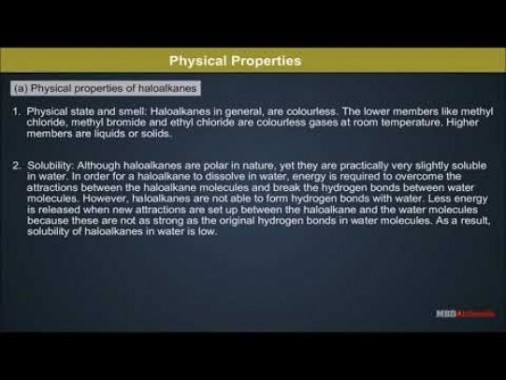 Class 12 Chemistry - Physical Properties Video by MBD Publishers