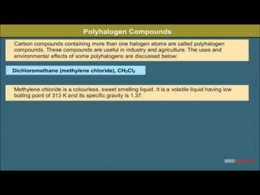 Class 12 Chemistry - Polyhalogen Compounds Video by MBD Publishers