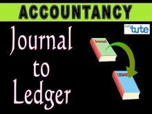 Class 11 Accountancy - Posting From Journal To Ledger Video by Let's Tute