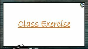 Practical Chemistry - Class Exercise (Session 4 & 5)