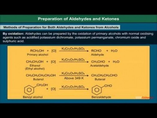 Class 12 Chemistry - Preparation Of Aldehydes And Ketones Video by MBD Publishers