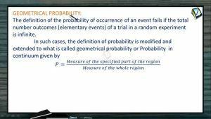 Probability - Geometrical Probability (Session 9 & 10)