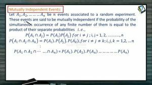 Probability - Mutally Independent Events (Session 7)