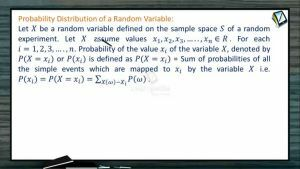 Probability - Probability Distribution Of A Random Variable (Session 8)