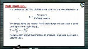 Properties of Matters - Bulk Modulus (Session 2)
