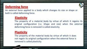 Properties of Matters - Deforming Force (Session 1)