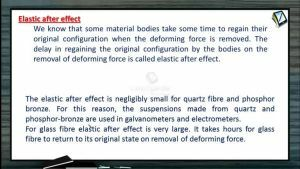 Properties of Matters - Elastic After Effect (Session 3 & 4)