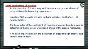 Properties of Matters - Some Applications Of Viscosity (Session 5 & 6)