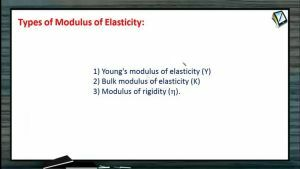 Properties of Matters - Types Of Modulus Of Elasticity (Session 2)
