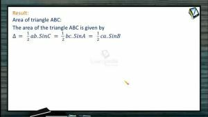Properties Of Triangles - Area Of Triangle (Session 1)