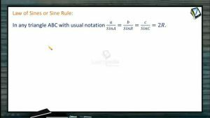 Properties Of Triangles - Sine Rules (Session 1)