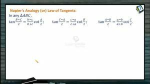 Properties Of Triangles - Tangent Rule (Session 2)