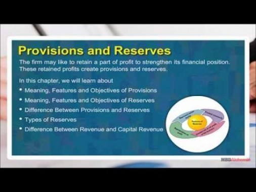 Class 11 Accounts - Provisions And Reserves Video by MBD Publishers