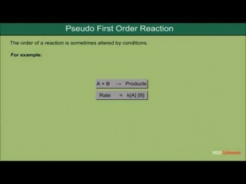 Class 12 Chemistry - Pseudo First Order Reaction Video by MBD Publishers