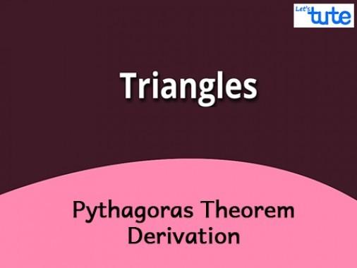 Class 10 Mathematics - Pythagoras Theorem Derivation Video by Lets Tute
