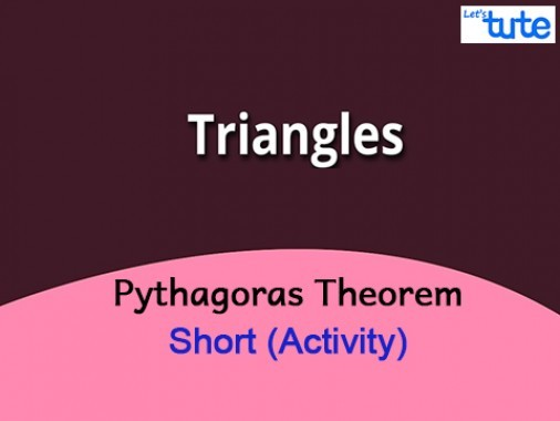 Class 10 Mathematics - Pythagoras Theorem Explained Activity Video by Lets Tute