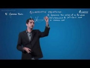 Quadratic Equations And Inequalities - Common Roots Video By Plancess