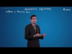 Quadratic Equations And Inequalities - Roots In Particular Cases Video By Plancess