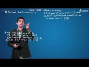 Quadratic Equations And Inequalities - Solved Examples-II Video By Plancess