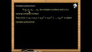 Quadratic Equations - Complex Polynomial (Session 1)
