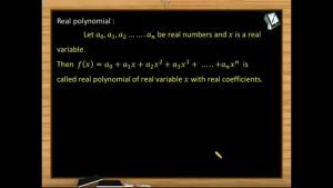 Quadratic Equations - Real Polynomial (Session 1)