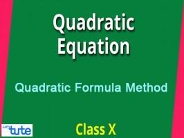 Class 10 Mathematics - Quadratic Formula Method Video by Lets Tute
