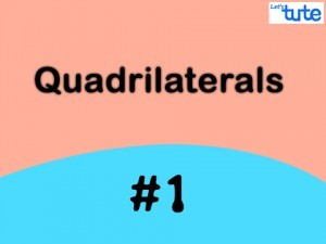 Class IX Maths - Quadrilaterals - Theorem Part I Video By Lets Tute