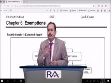Day 3 CA/CMA/CS Final Indirect Tax Laws Crash Course Part-1