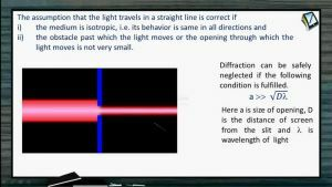 Ray Optics - Assumptions For The Light Travels In A Straight Line (Session 1, 2 & 3)