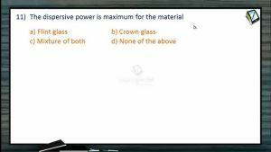 Ray Optics - Class Exercise-II (Session 11, 12 & 13)