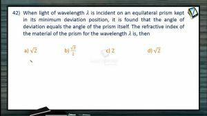 Ray Optics - Class Exercise-IV (Session 11, 12 & 13)