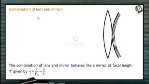 Ray Optics - Combination Of Lens And Mirror (Session 14)