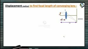 Ray Optics - Displacement Method To Find Focal Length Of Converging Lens (Session 14)