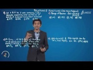 Relation And Functions - JEE Mains Problems-III Video By Plancess
