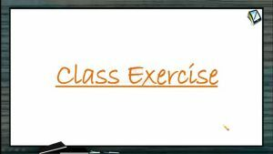 Rotational Motion - Class Exercise (Session 10)