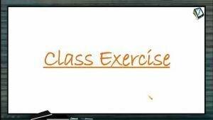 Rotational Motion - Class Exercise (Session 11)
